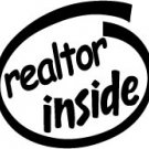 Realtor Inside Decal Sticker