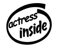Actress Inside Decal Sticker
