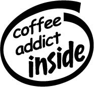 Coffee Addict Inside Decal Sticker