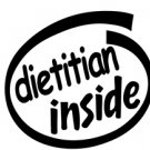 Dietitian Inside Decal Sticker
