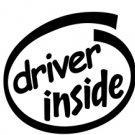 Driver Inside Decal Sticker