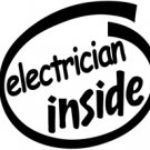 Electrician Inside Decal Sticker