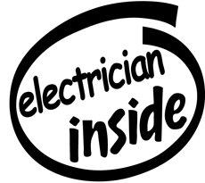 Electrician Inside Decal Sticker