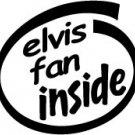 Elvis Fan Inside Decal Sticker presley