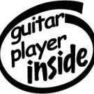Guitar Player Inside Decal Sticker