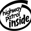 Highway Patrol Inside Decal Sticker