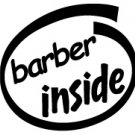 Barber Inside Decal Sticker