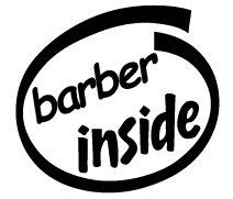 Barber Inside Decal Sticker