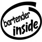 Bartender Inside Decal Sticker