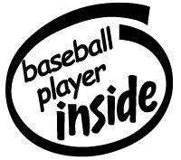 Baseball Player Inside Decal Sticker