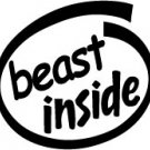 Beast Inside Decal Sticker