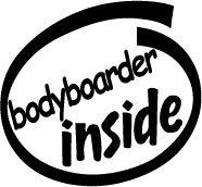 Bodyboarder Inside Decal Sticker