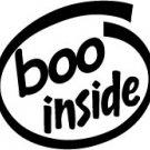 Boo Inside Decal Sticker