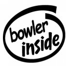 Bowler Inside Decal Sticker