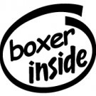 Boxer Inside Decal Sticker