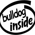 Bulldog Inside Decal Sticker