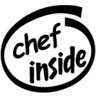 Chef Inside Decal Sticker