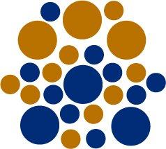 Set of 26 - BLUE / COPPER METALLIC CIRCLES Vinyl Wall Graphic Decals Stickers shapes polka dots