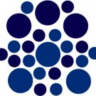 Set of 26 - BLUE / DARK BLUE CIRCLES Vinyl Wall Graphic Decals Stickers shapes polka dots round