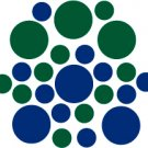 Set of 26 - BLUE / DARK GREEN CIRCLES Vinyl Wall Graphic Decals Stickers shapes polka dots round