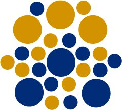 Set of 26 - BLUE / GOLD METALLIC CIRCLES Vinyl Wall Graphic Decals Stickers shapes polka dots round
