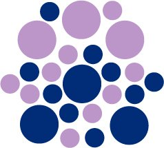 Set of 26 - BLUE / LILAC CIRCLES Vinyl Wall Graphic Decals Stickers shapes polka dots round