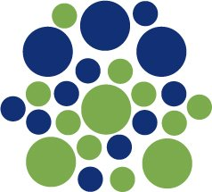 Set of 26 - LIME / BLUE CIRCLES Vinyl Wall Graphic Decals Stickers shapes polka dots