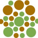 Set of 26 - LIME / COPPER METALLIC CIRCLES Vinyl Wall Graphic Decals Stickers shapes polka dots