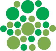 Set of 26 - LIME / GREEN CIRCLES Vinyl Wall Graphic Decals Stickers shapes polka dots