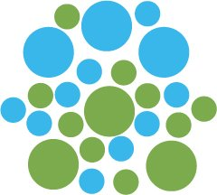 Set of 26 - LIME / ICE BLUE CIRCLES Vinyl Wall Graphic Decals Stickers shapes polka dots