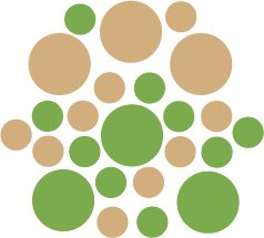 Set of 26 - LIME / LIGHT BROWN CIRCLES Vinyl Wall Graphic Decals Stickers shapes polka dots