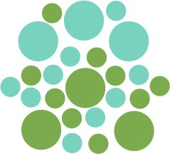 Set of 26 - LIME / MINT CIRCLES Vinyl Wall Graphic Decals Stickers shapes polka dots