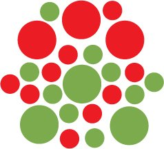 Set of 26 - LIME / RED CIRCLES Vinyl Wall Graphic Decals Stickers shapes polka dots
