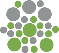 Set of 26 - LIME / SILVER METALLIC CIRCLES Vinyl Wall Graphic Decals Stickers shapes polka dots
