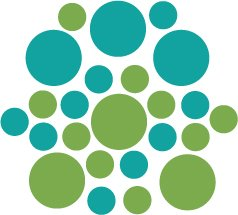 Set of 26 - LIME / TURQUOISE CIRCLES Vinyl Wall Graphic Decals Stickers shapes polka dots