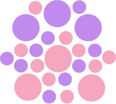 Set of 26 - PINK / LAVENDER CIRCLES Vinyl Wall Graphic Decals Stickers shapes polka dots