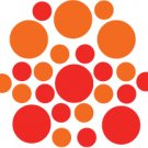 Set of 26 - RED / ORANGE CIRCLES Vinyl Wall Graphic Decals Stickers shapes polka dots