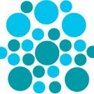 Set of 26 - TURQUOISE / ICE BLUE CIRCLES Vinyl Wall Graphic Decals Stickers shapes polka dots
