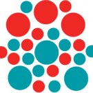Set of 26 - TURQUOISE / RED CIRCLES Vinyl Wall Graphic Decals Stickers shapes polka dots