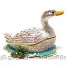New Duck in Pond Rhinestone jewel Trinket Jewelry Box Gift