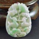 Mandarin duck jade jadeite pendant