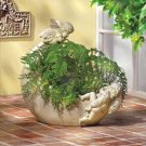 ANGELS AND CHERUBS MOON PLANTER GARDEN RETREAT