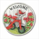Wall plaque Garden Wall Stone of adorable Childhood Tricycle