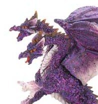 Doubled Headed Purple Dragon Magically Beautiful