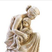 Mother and Child Tabletop Statue Perfect for Mothers Day