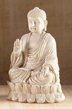 Tranquil Mediative Buddha Sculpture Tabletop Calming