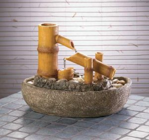 Soothing Bamboo Tabletop Water Fountain Sit Back and Relax