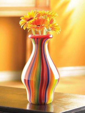 Stunning Hand Made Rainbow Vase