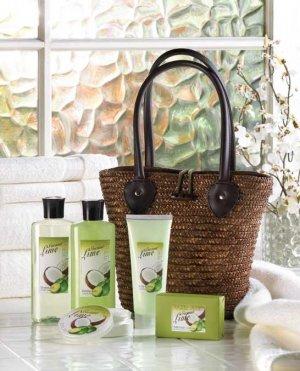 Tropical Lime & Coconut 6 piece Bath Set