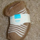 2 pack Brown Booties Sz 6-12 Mos